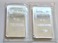 SCOTIABANK 10OZ .999 SILVER BAR - IN PROTECTIVE SLEEVE