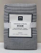 NEW Pottery Barn TEEN Vintage Stripe STANDARD Sham~Gray