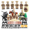 WWII Soviet Russian Soldiers Mini Figures Military Russia Army WW2 Set Fit Lego