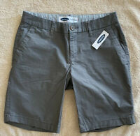 Old Navy Women's Flat Front Everyday Bermuda Shorts W Pockets Gray Size 0 NWT