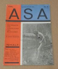 ASA Das Magazin für Körper, Kunst und neues Leben, 2 Jahrgang Nr. 6 1927