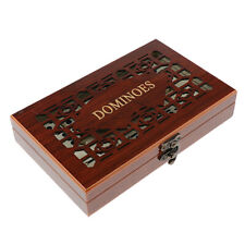28 Pieces Retro Dominoes Game Set Domino Tiles with Wooden Case Box