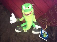 "Official Vector Super Sonic The Hedgehog 8"" plush soft toy Sega green Crocodile"