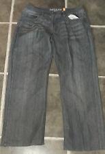 VINTAGE STYLE URBAN REPUBLIC INDIGO BLUE JEANS W32 L28 SHORTENED LEG 100% COTTON