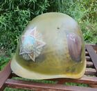 Original USSR Military Army Helmet Painted Art Theme 'The Victory USSR in WW2'