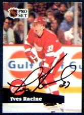 Yves Racine Detroit Red Wings 1991-92 Pro Set ProSet Signed Card