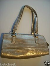 Tommy Hilfiger Tan Croc Baguette Purse Shoulder Bag Handbag Tote Hobo Satchel