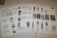 Vintage TESTOR MODEL CEMENT - PAINT - BRUSHES -  ad sheet lot of 3#0165