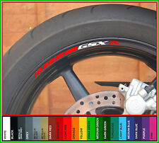 12 x SUZUKI GSXR 1000 750 600 SRAD Wheel Rim Stripe Stickers - Colour Choice