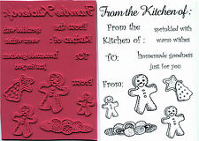unmounted rubber stamps   Cookies and Kitchen collection  10 images