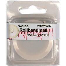1 Rollbandmaß Schneidermaßband Schneider-Maß, Maßband weiß 150 cm /60 Zoll, 0217