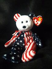 SPANGLE beanie baby white face with space on inside tag (error) RARE