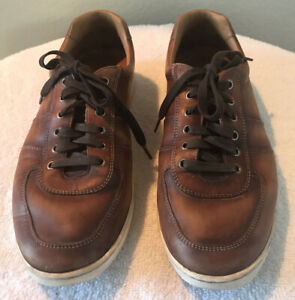 Magnanni Franco Lo Cognac Brown Leather Sneakers Mens Size 9.5M Casual $395