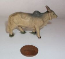 antique vtg Toy ZEBU Ox Cattle Figure Elastolin? Lineol? Composition? Germany 2