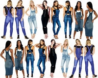 NEW WOMEN'S GIRLS DENIM SEXY STRETCHY SKINNY JEANS DUNGAREES SIZE6 8 10 12 14 16