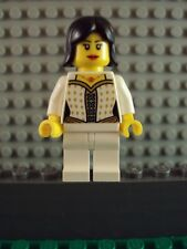 Lego Minifig ~ Pirate Queen Maiden Princess Girl Female Wench w/Black Hair Lady