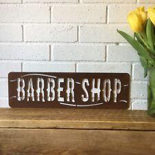 Rostbraun Frisör Ladenschild Metall Geschäft Vorne Heim Friseur Rasieren Salon
