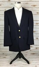 Bill Blass Navy Suit Coat 40L(? Not Labeled) Gold Buttons 2 Button Wool Vented