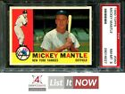 1960 TOPPS #350 MICKEY MANTLE YANKEES HOF PSA 8 A1827-027