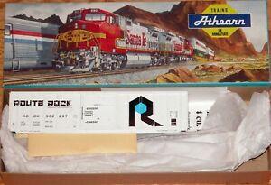 ATHEARN 5808 50' PS 5344 BOXCAR KIT ROCK ISLAND ROCK 302237 WHITE