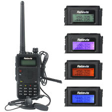 New Retevis RT5 Walkie Talkie Dual Band UHF+VHF 8W 128CH 1750Hz FM Two Way Radio
