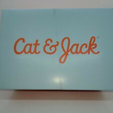 New Girls Cat & Jack Karina Glitter Sneakers Shoes White & Purple Size 11 Nib!
