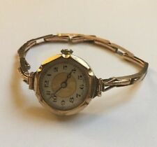 Antique 9ct 9k Gold Ladies Wrist Watch Expandable Bracelet
