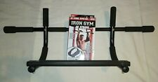 Pre-owned IRON GYM Upper Body Workout Bar with New in Box Padded Ab Straps