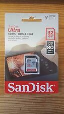 SanDisk 32GB Ultra SDHC SD Card Class 10 UHS-I Memory Card 80MB/S For Camera NEW