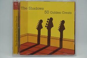 The Shadows - 50 Golden Greats  2X CD Album  - Apache / Cliff Richard