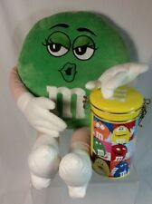 M&M Green Girl Plush 2011 collector candy tin