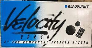 "1 Pair NEW Old School Blaupunkt Velocity 4"" Component speakers,Rare,NOS,NIB"