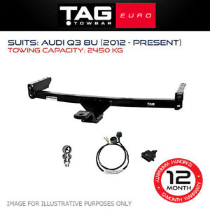 TAG Euro Towbar Fits Audi Q3 2012-Current Towing Capacity 2450Kg 4x4 Exterior