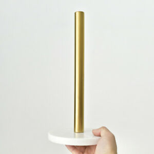 Marble Kitchen Paper Towel Roll Holder Gold Rose Pole Iron Stand Rack Dispenser