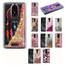 For T-Mobile Revvl Plus Liquid Glitter Quicksand Hard Case Phone Cover Accessory