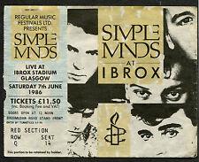 1986 The Cult Simple Minds Waterboys Concert Ticket Stub Glasgow Ian Astbury