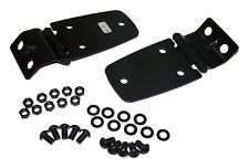 Fits 1997 2006 Jeep Wrangler Tj Pair Of Black Hood Hinges With Hardware