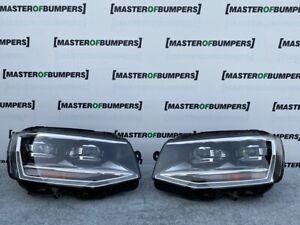 VW TRANSPORTER CARAVELLE T6 2015-2020 FULL LED HEADLIGHTS PAIR COMPLETE GENUINE