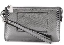 NEW Michael Kors Smallpocket Embossed Leather Gusset Wristlet