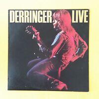 RICK DERRINGER Live PZ34848 Sterling LP Vinyl VG near VG+ Cover VG+ Sleeve