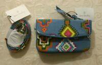 NWT Vera Bradley Bundle Jen Zip ID Case + Lanyard in Painted Medallions