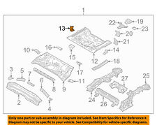 HYUNDAI OEM Floor Rails-Rear-Rear Floor Pan Support Bracket Right 65596G3000