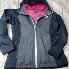 North Face Youth Large 14/16 Girls Rain Jacket Dry Vent Gray Black Pink Shell
