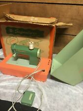 Vintage Portable Signature Junior Sewing Machine in Case WORKS! Made in Japan