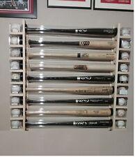 9 Bat - Wood Baseball Bat Display Rack w/ Double Shelves  ( SEE DESCRIPTION  )
