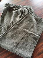 Lane Bryant Designs Black/White  Herringbone Tweed Pant    NWT   24
