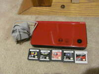 Nintendo DSi XL Super Mario Bros 25th Anniversary Console w/ 5 Games Tested