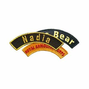 Personalised Curved Name Embroidered Patches Sew Iron On Jeans Badge Club