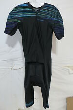 Louis Garneau Course LGneer Skinsuit Men's Small Black/Blue/Green