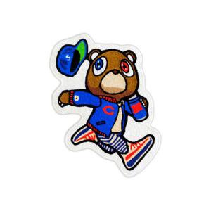 New Custom Kanye West Yeezy Murakami Graduation Bear Floor Mat Carpet Rug Blue